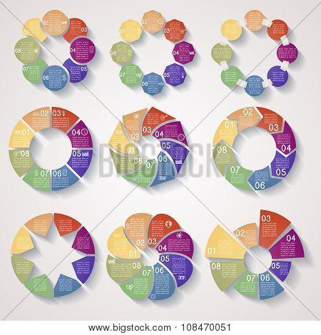 Set Of Circular Business Templates