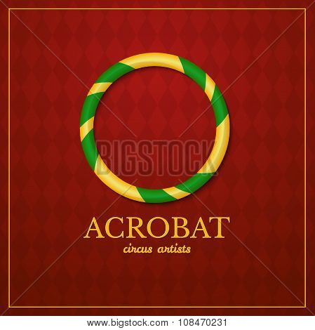 Acrobat logo, circus design, vector illustration