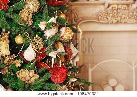 Christmas Living Room With Christmas Tree