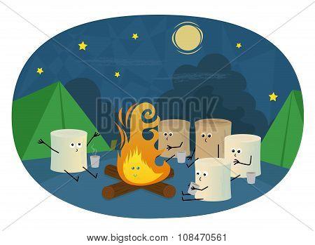 Marshmallows Camping
