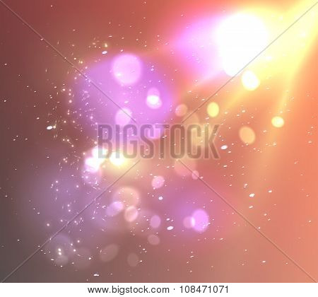 Soft background with light and bokeh