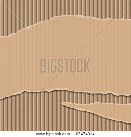 Cardboard corrugated banner and background