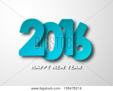 Happy new year 2016 paper background