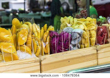 Street Fruit On Bangkok, Thailand.