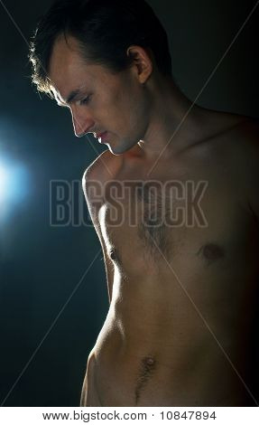Young Naked Men On Dark