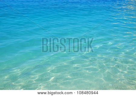 Calm blue sea background