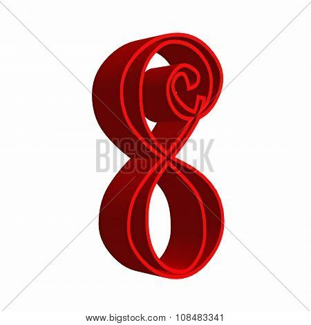 3D number eight 8