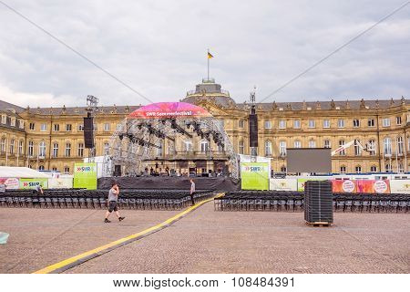 Swr Sommerfestival 2015, Stuttgart - Stage At The New Castle