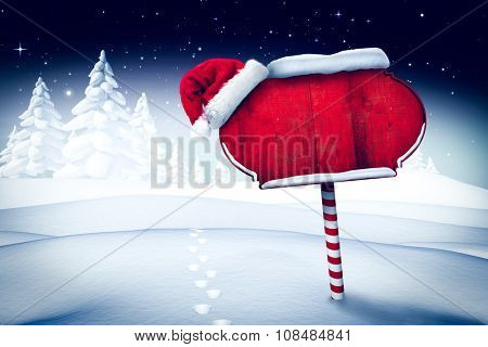 Santa sign in north pole