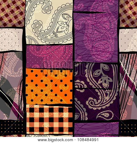 Abstract patchwork background