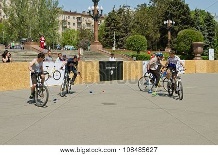 Demonstration Bike Polo Match At The Event