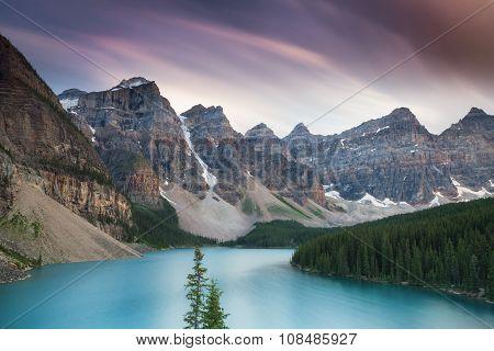 Beautiful Moraine Lake - Long Exposure Version