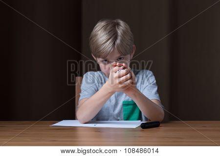 Boy Doing Paper Ball