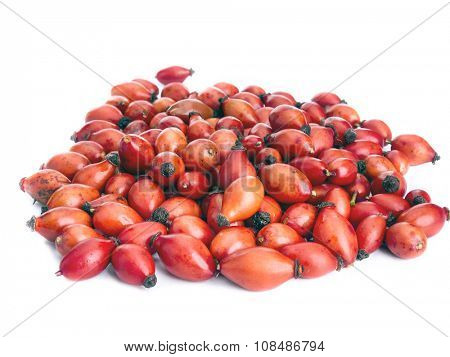Bunch of fresh briar fruit on white background