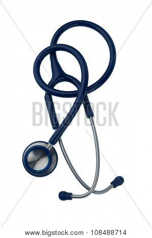 stethoscope against white background, symbol photo for the medical profession and diagnosis