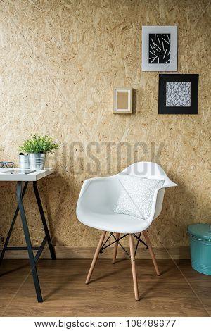 Trendy White Chair