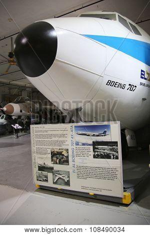 El Al Boeing 707 on display