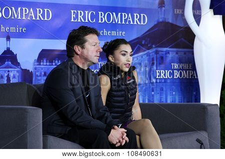 Gabrielle Daleman (can) (r) And Her Coach Lee Barkell