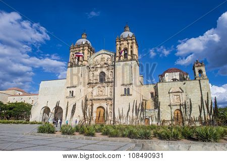 The Church Of Santo Domingo De Guzman In Oaxaca Mexico
