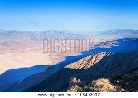 View from the mounain over Death Valley panorama