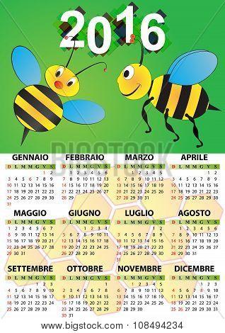 2016 Bee Calendar