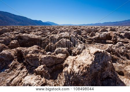 Close shoot of the salt stones in Death Valley
