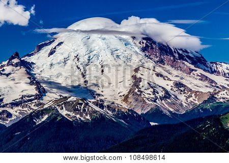 Peak of Mount Rainier, Washington