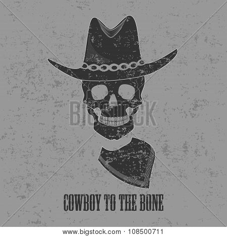 Funny picture with title Cowboy to the bone