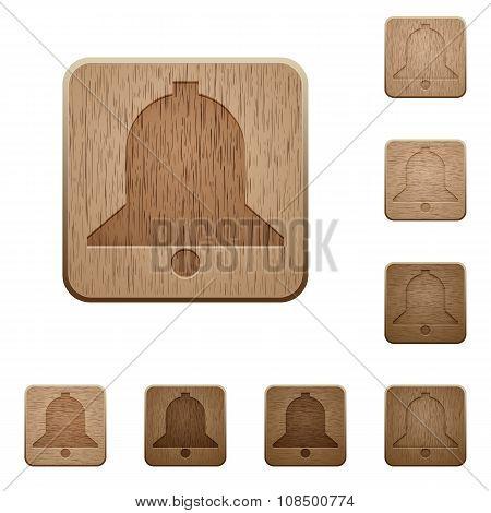 Bell Wooden Buttons