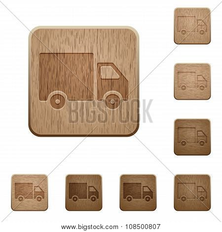 Delivery Wooden Buttons