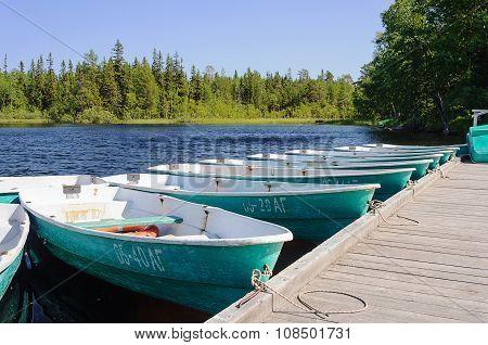 Boats At The Berth, Sunny Summer Day