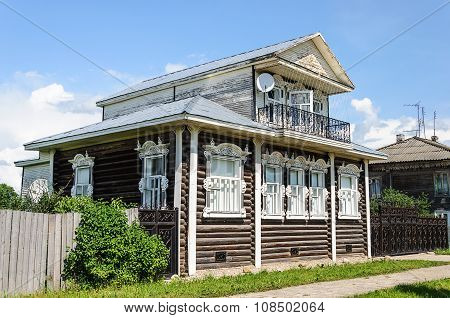 Beautiful Wooden House In The Country
