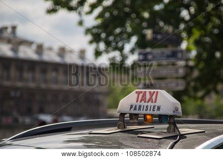 Paris Taxi Sign