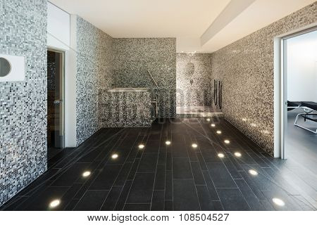Interior of a modern house, turkish steam bath