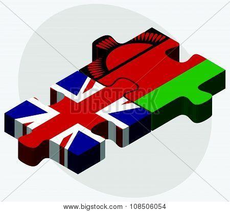 United Kingdom And Malawi Flags
