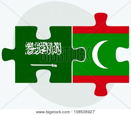 Saudi Arabia And Maldives Flags