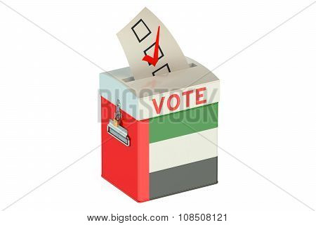 Uae Election Ballot Box For Collecting Votes
