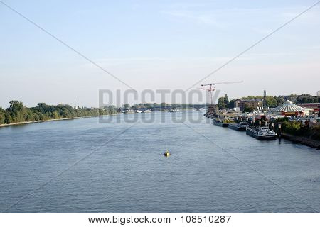 River Rhine in Mainz