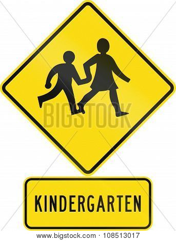 Road Sign Assembly In New Zealand - Kindergarten Children