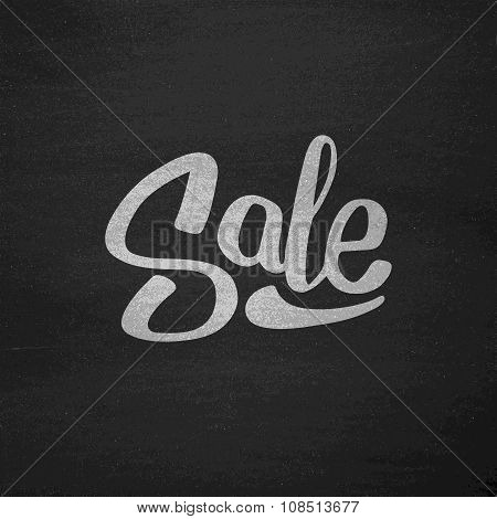 Black Friday Sale Typography on Chalkboard