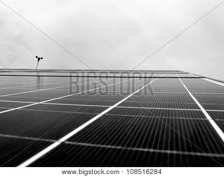 black and white solar panals with sky in background, future, clean, green, energy, background
