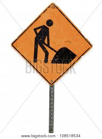 road sign for under construction web site