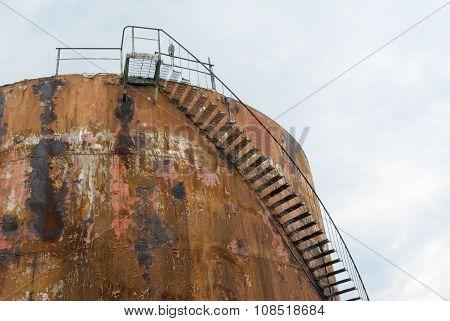rusted petrol tank