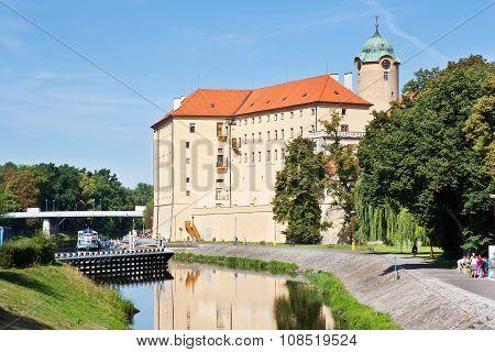 Castle From 13Th Cent., Elbe River Embankment, Spa Town Podebrady, Central Bohemia, Czech Republic