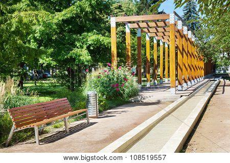 Wooden Colonnade And Park Promenade, Spa Town Podebrady, Central Bohemia, Czech Republic