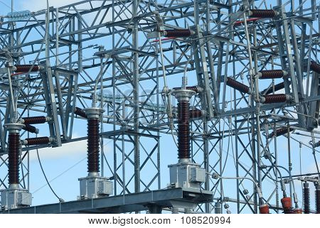 high voltage power plant electricity distribution wire