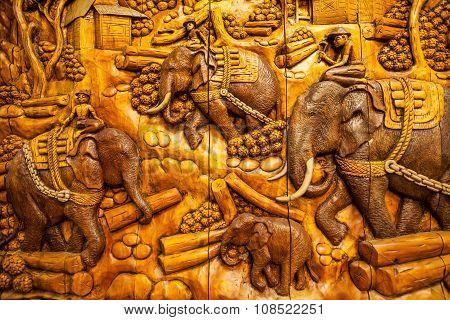 Carved Thai Animals