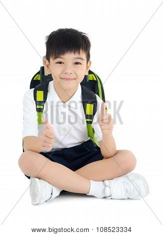 Asian school kid