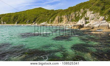 Turquoise lagoons .