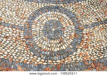 Massage stone walkway texture